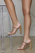 Rodeo Double Strap Block Heel (Tan)