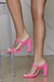 Rodeo Double Strap Block Heel (Pink)