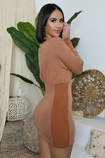 Loose & Fitted Dress (Brown Sugar)