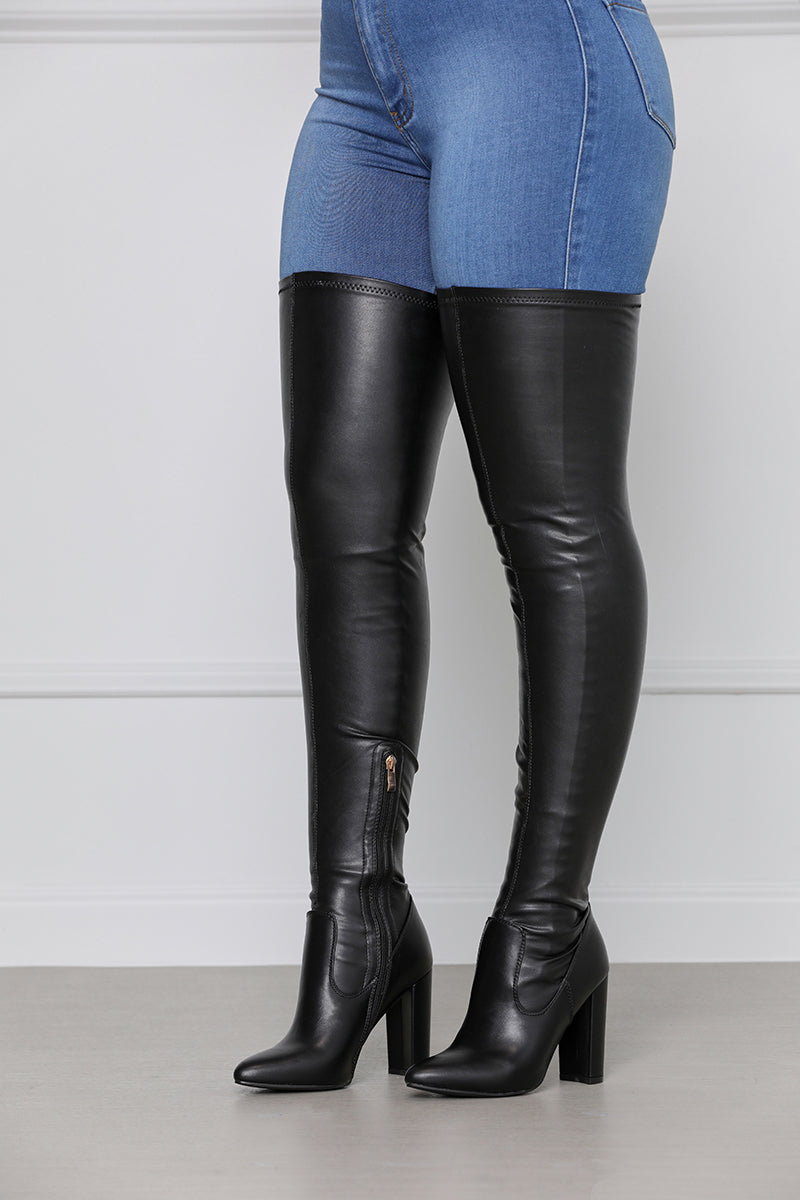 Temptation Thigh High Boot (Black)