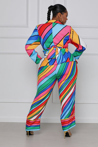 Dreaming in Technicolor Blazer Suit Set