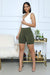 Ribbed Biker Shorts (Olive)