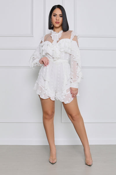 All My Love Ruffle Polka Dot Romper