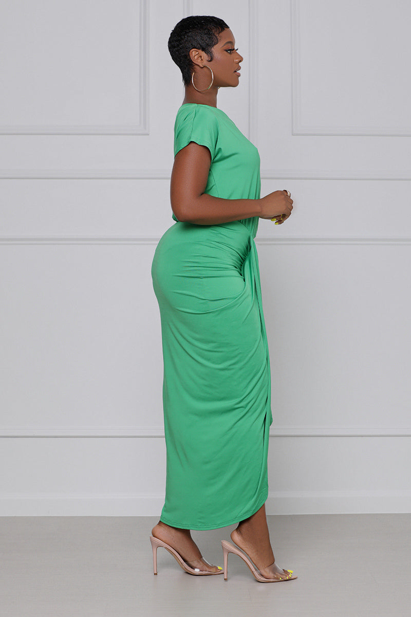 That Girl Off The Shoulder Dress (Green)
