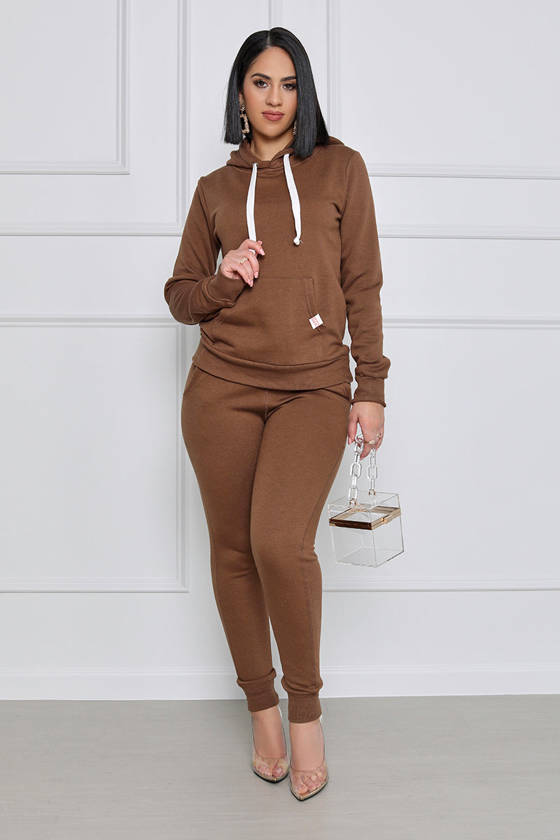 All In Jogger Set (Brown)