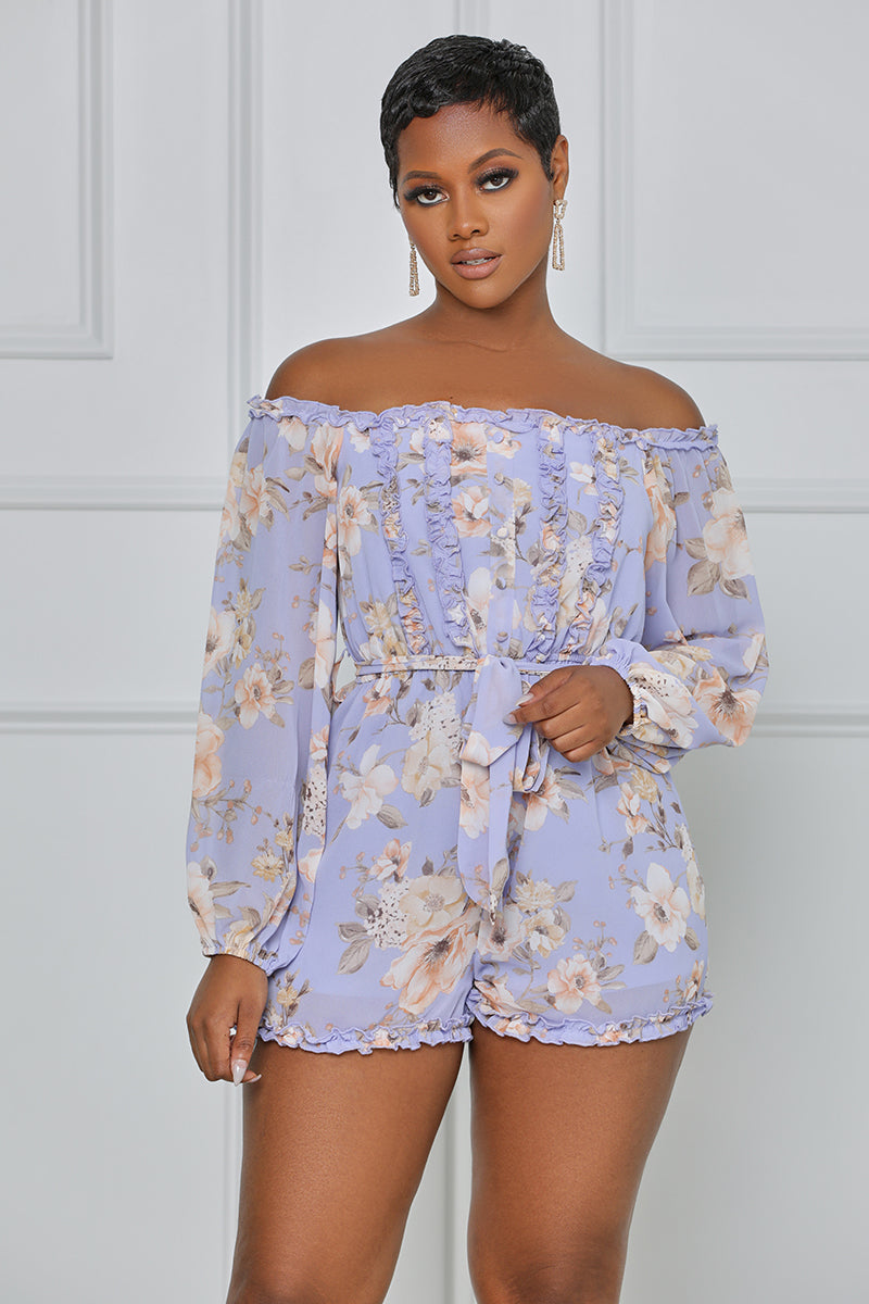 Make Your Move Floral Romper