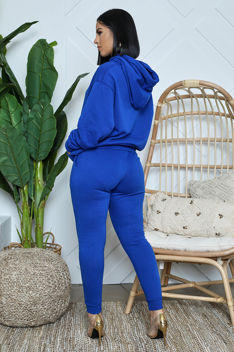 Oversized Hoodie Jogger Set (Blue)
