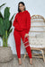 Oversized Hoodie Jogger Set (Red)
