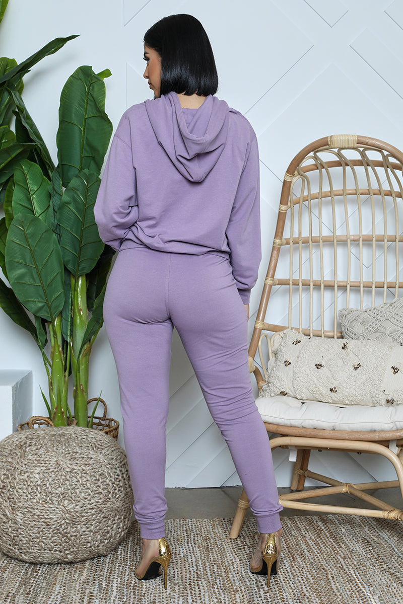 Oversized Hoodie Jogger Set (Purple)