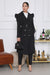 Puff Sleeve Trench Coat (Black)