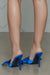 Satin Bow Tie Heel (Blue)