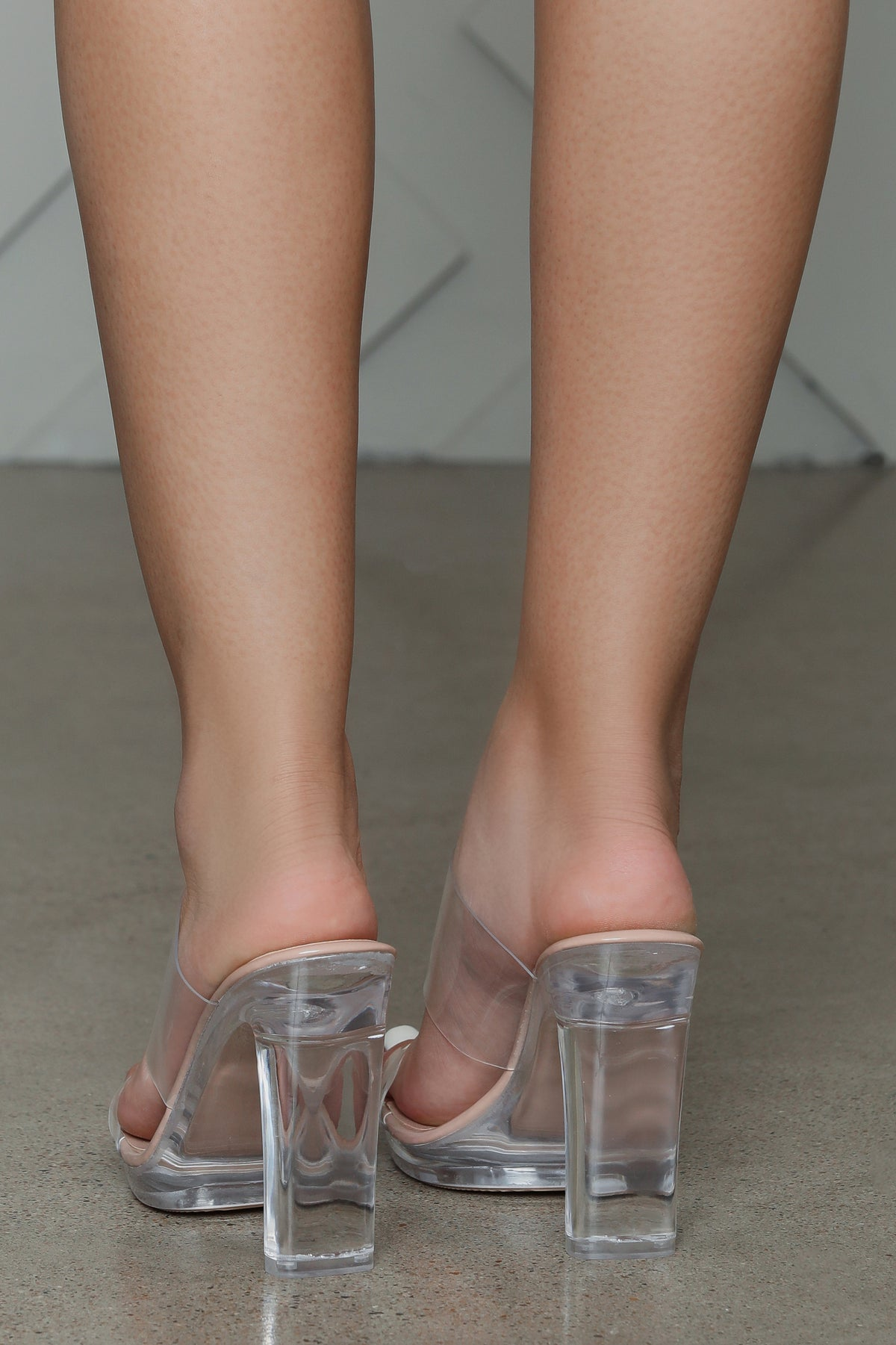 Peace Transparent PVC Mule Heel