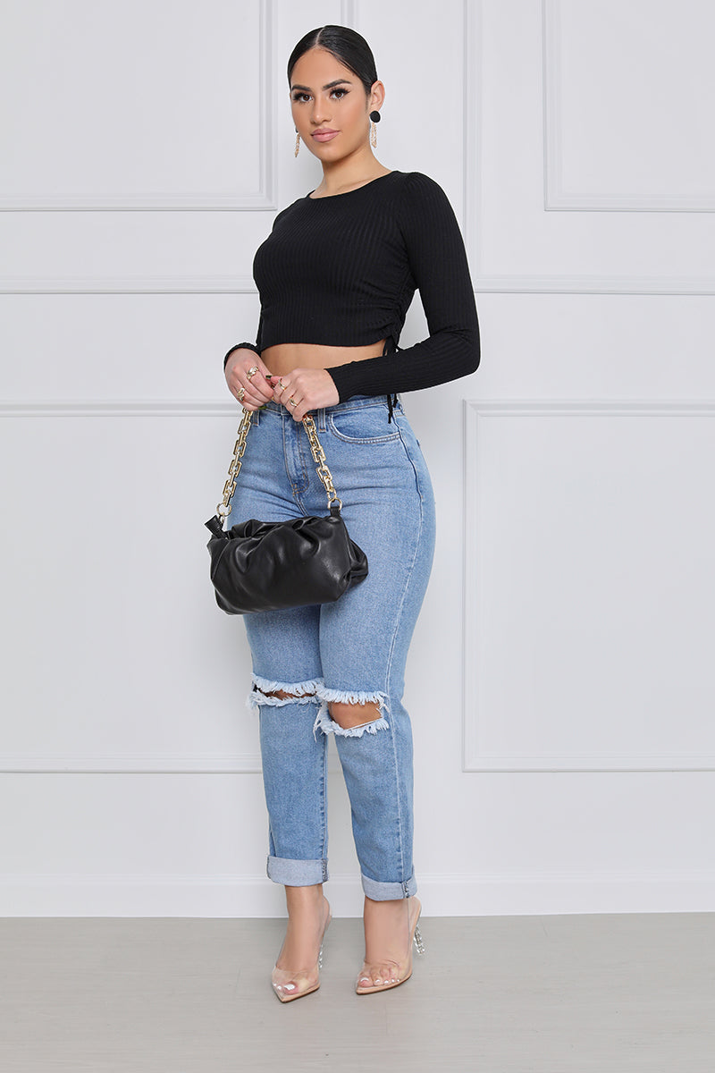 My Girl Boyfriend Distressed Jeans