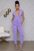 Cozy V-Neckline Jumpsuit (Purple)