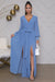 Double Split Maxi Dress (Powder Blue)