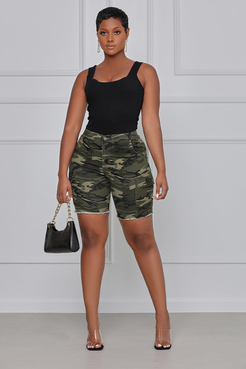 Fall in Line Camo Cargo Shorts