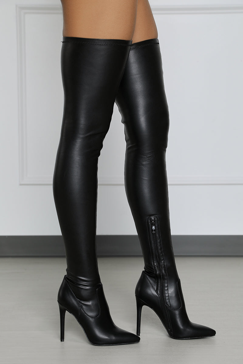 Extreme Thigh High Stretch Boot (Slim Fit)