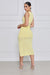 Spoil Me High Slit Midi Knit Dress (Pastel Yellow)