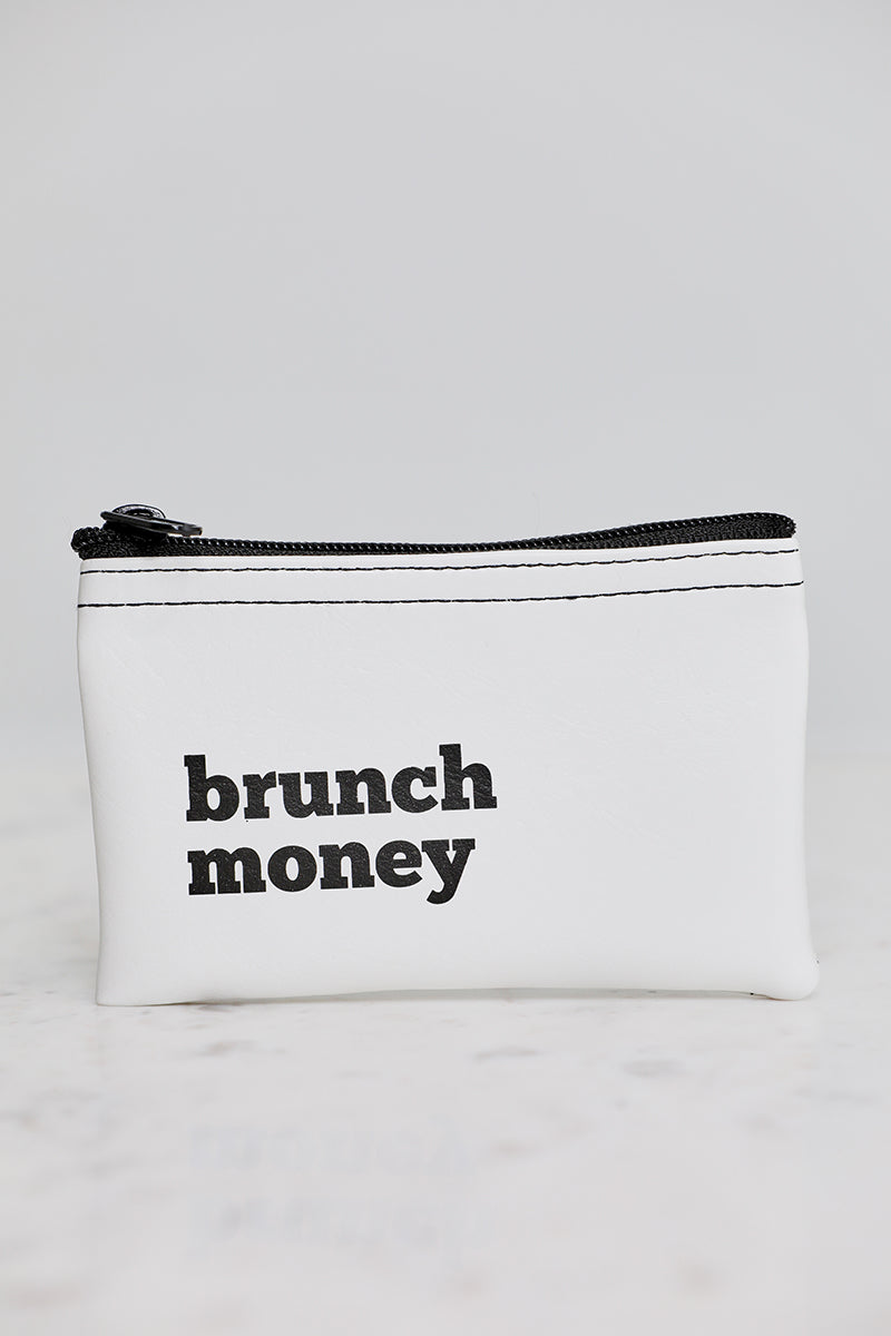 Brunch Money Vinyl Zip Pouch