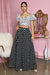 Polka Dot Cropped Maxi Skirt Set