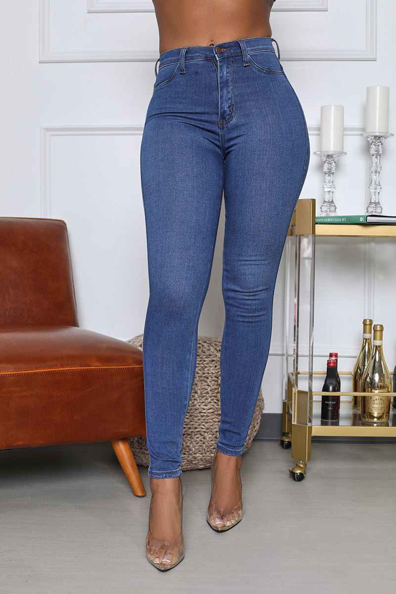 Classic Mid-Rise Skinny Jean (Medium Wash)- FINAL SALE