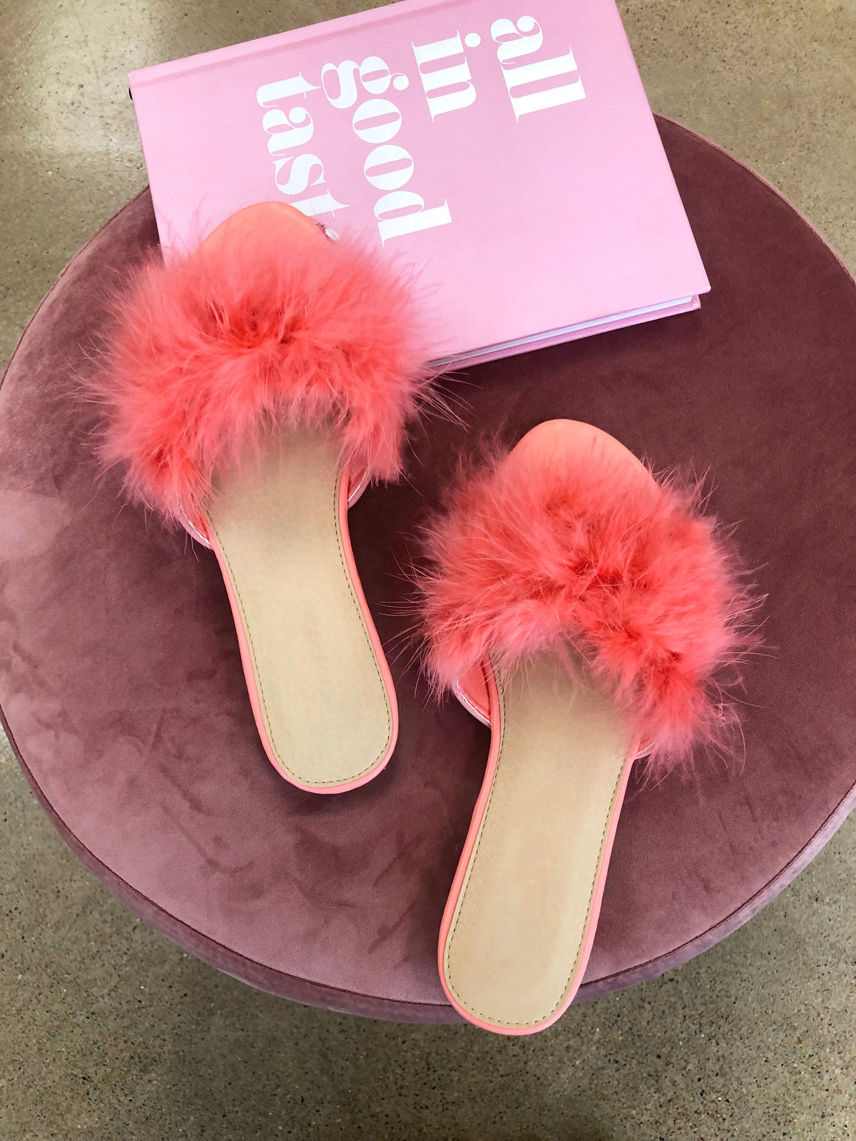 Feather Down Sandal (Pink)