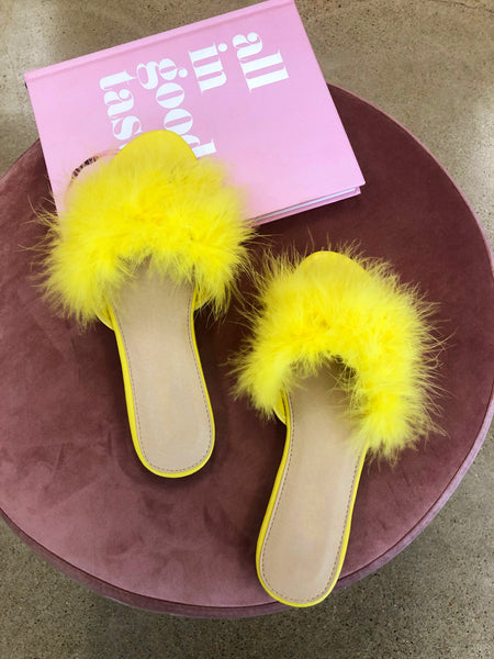 Feather Down Sandal (Yellow) - FINAL SALE