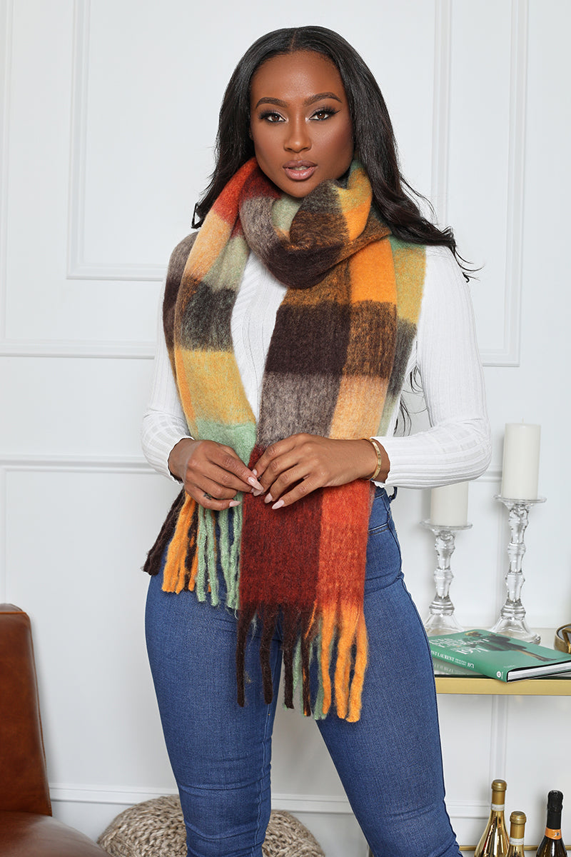 Plaid Soft Scarf (Multi)