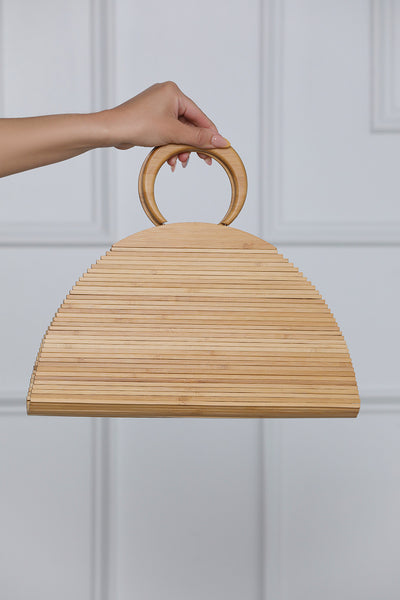 Maldives Wooden Handbag (Natural)