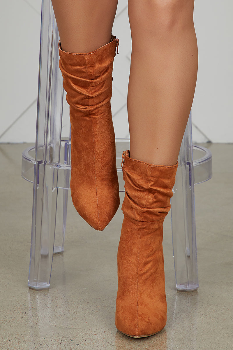 Liana Booties (Tan)- FINAL SALE