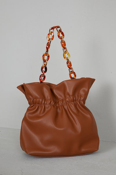 Brown Bucket Bag