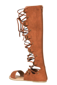 Tanaya Gladiator Sandal (Cognac)- FINAL SALE