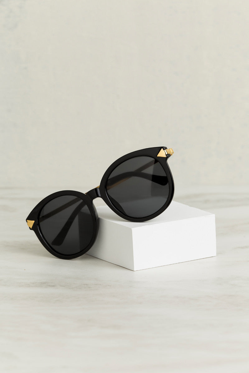 Eyes On The Prize Sunglasses (Black/Gold)