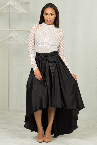 Bow Tie Midi Skirt- FINAL SALE