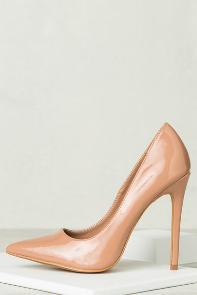 Single Sole Classic Pump (Taupe PU)