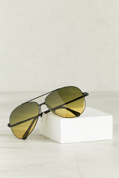 Retro Sunglasses (Yellow)