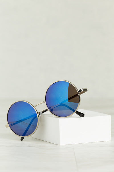 Round & Round We Go Sunglasses (Blue)