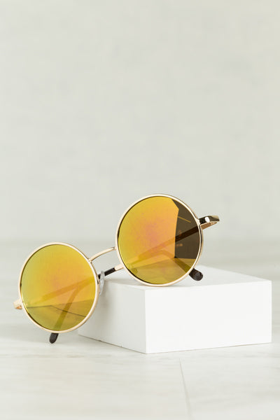 Round & Round We Go Sunglasses (Golden Yellow)