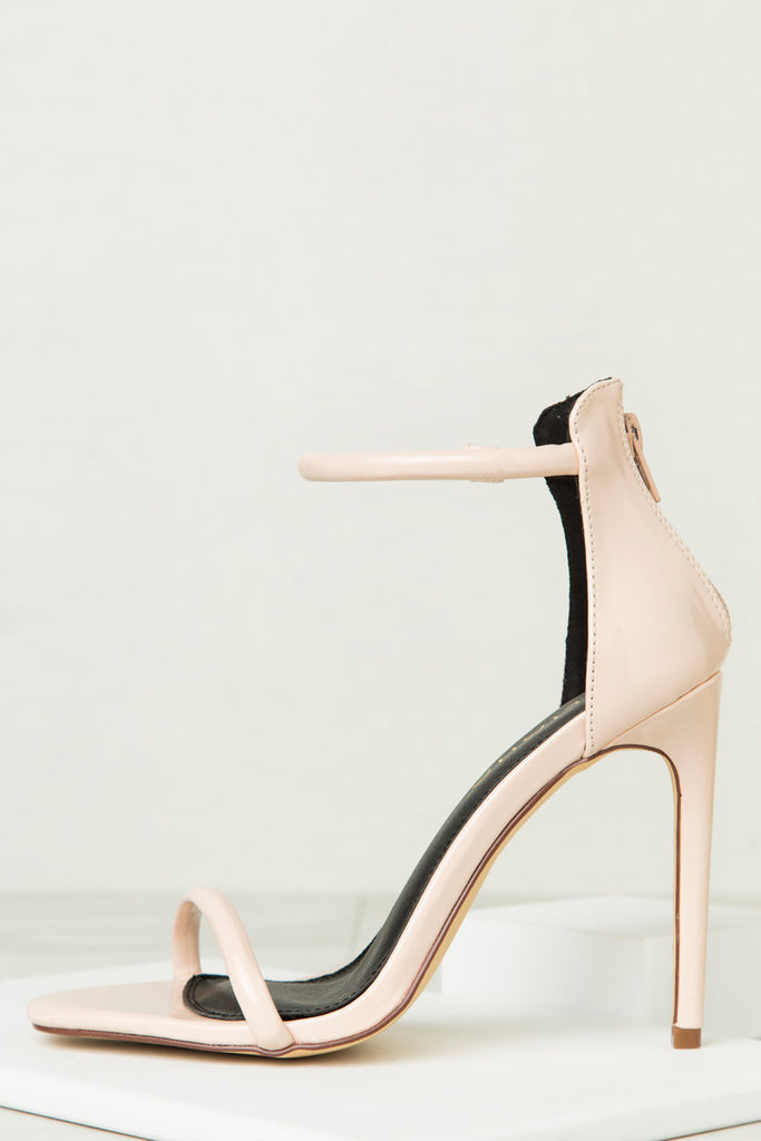 Barely There Single Sole Heel (Nude PU)- Final Sale