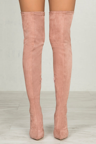 Giselle Thigh High Boots (Mauve)- FINAL SALE