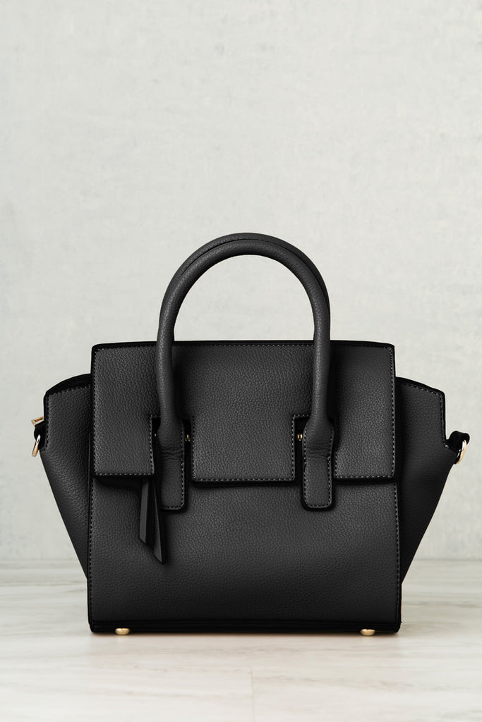 Nadine Structured Satchel (Black)