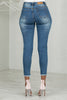 Distressed Crop Stretch Jeans- FINAL SALE