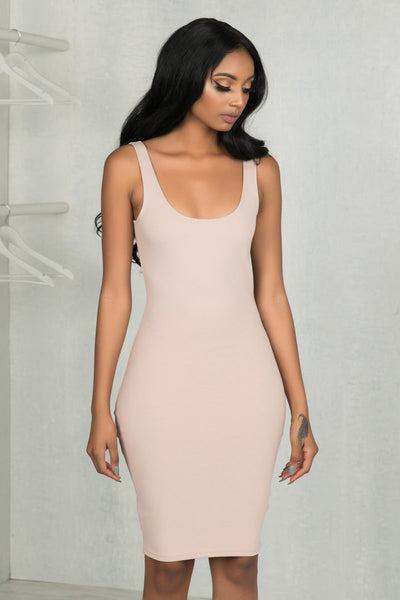 Thick Tank Basic Dress (Nude)- FINAL SALE