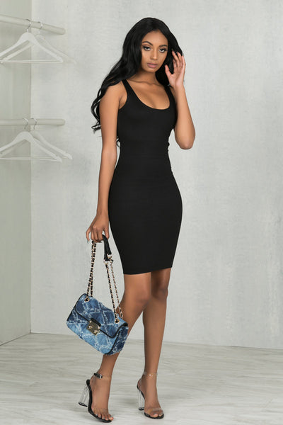 Thick Tank Basic Dress (Black)