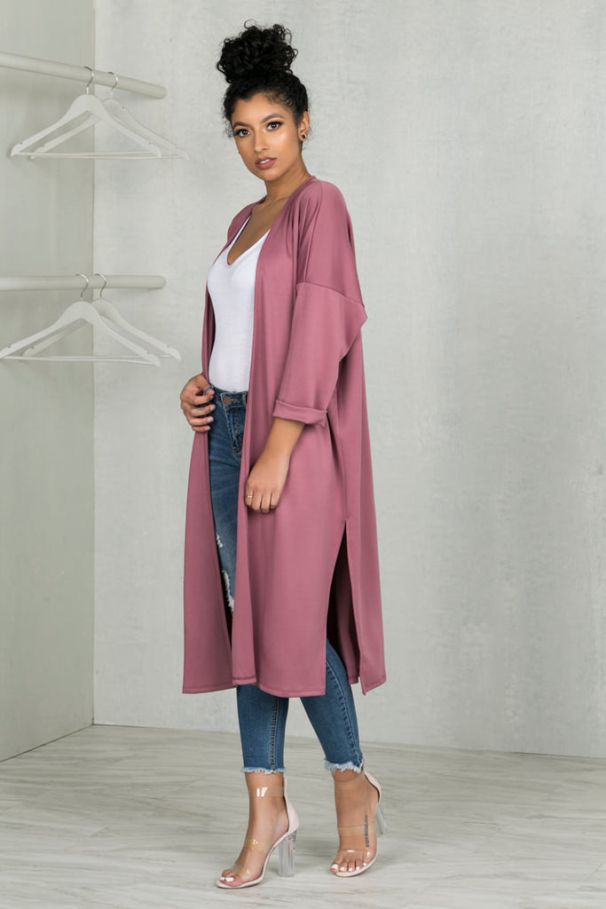 Keep It Moving Duster (Dark Mauve)