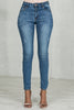 Simple High Waist Stretch Jeans (Medium Wash)- FINAL SALE