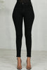 Simple High Waist Stretch Jeans (Black)- FINAL SALE