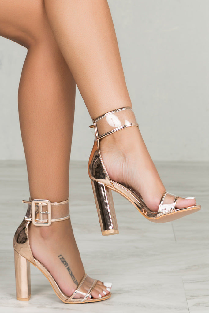 Neela Block Heel (Rose Gold)- PRE-ORDER ONLY SHIPS APRIL 28th