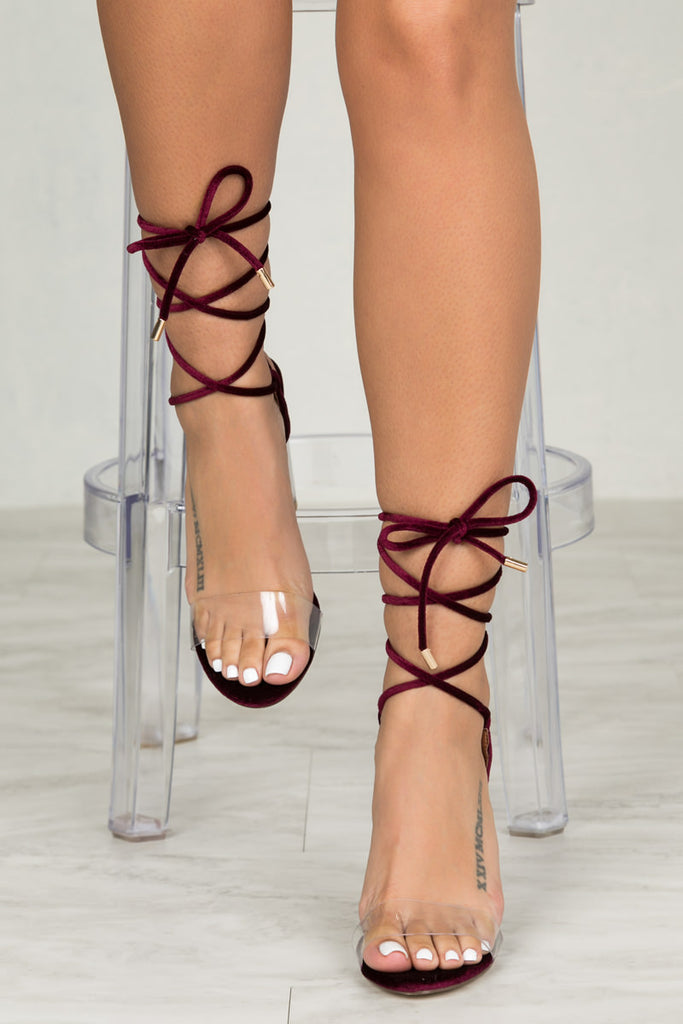 Bailey Lace Up Heel (Wine)