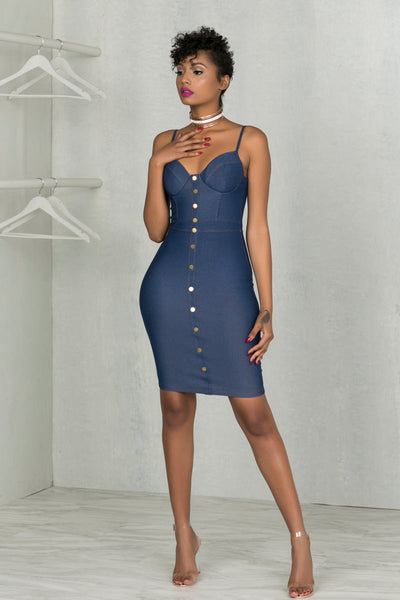 Le Denim Stretch Dress